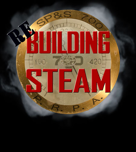 Rebuilding Steam logo of the SP&S 700 1472-day boiler rebuild and inspection project.